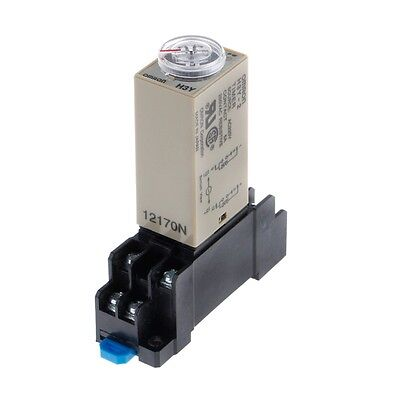 H3Y-2 AC 220V Power On Time Delay Relay Solid State Timer 1.0~30 Min Socket Base