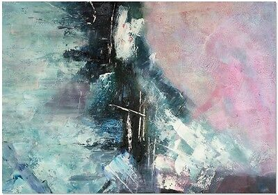 Manor Heart Hand Painted Canvas Wall Art Pastel Pink Abstract Oil Painting