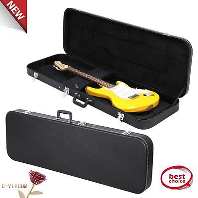 New Universal Electric Bass Guitar Hard-Shell Case w/ Full Neck Support H1