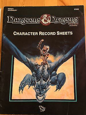 REF2 Player Character Record Sheets 9308 Advanced Dungeons & Dragons RARO AD&D