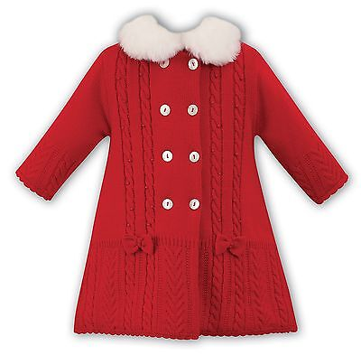 Sarah Louise Red Knitted Coat Style 008015 BNWT 25% Off RRP