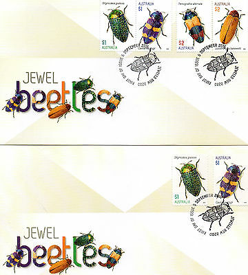2016 AUSTRALIA lot of 2 different Jewel Beetles FDC covers (lot 4)