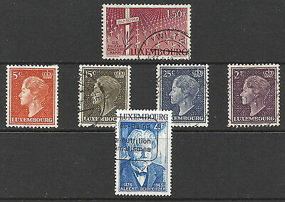 GB STAMPS 6 LUXEMBOURG WITH THINS MIXED CONDITION FROM BOBBLES BASEMENT @ 60p