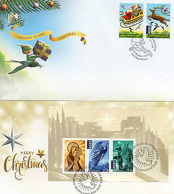 2016 AUSTRALIA lot of 2 different CHRISTMAS FDC covers ( lot 6)