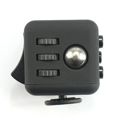 IN STOCK!1PCs Stress Relief Fidget Cube Xmas Gift For Family Night Black
