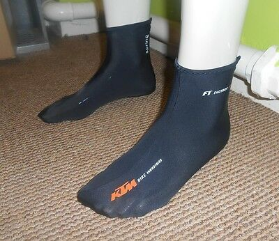 KTM Factory Team Spring Road Bike Cycling Overshoes Size LARGE EU 43-45 ***