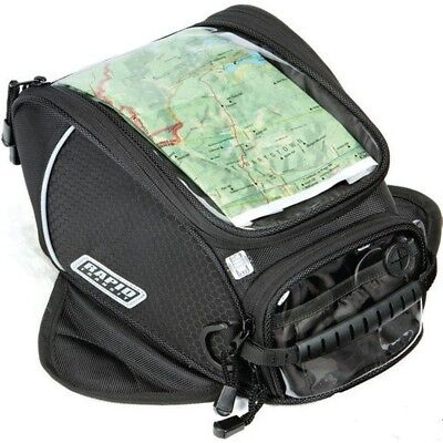 2015 Rapid Transit Recon Sport Suction Cup Motorcycle Storage Riding Tank Bag