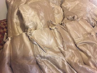 4 Pairs Of long hand made to order Watered Silk Thermal Lined Curtains