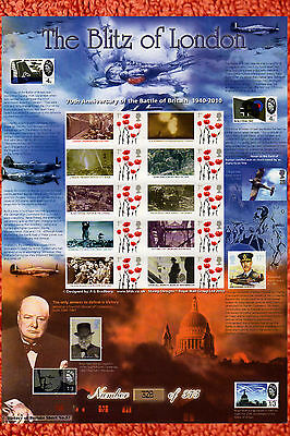 Bradbury Smilers Stamp Sheet The Blitz of London In WWII History of Britain 57