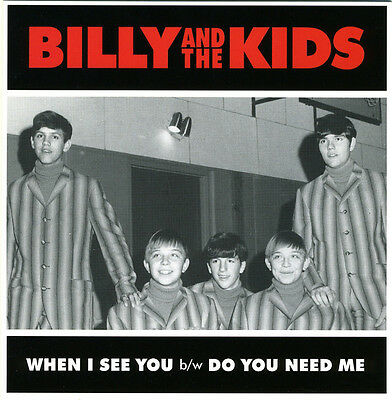 """BILLY & THE KIDS When I See You vinyl 7"""" NEW garage punk Digging For Gold"""