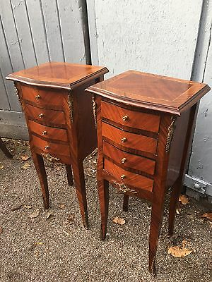 Pair Of French Inlaid Bedside Cabinets