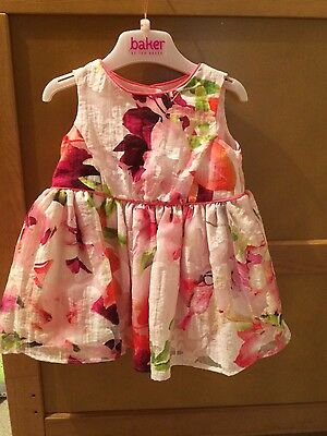 baby girls ted baker 6-9months dress wedding christening party special ocassion