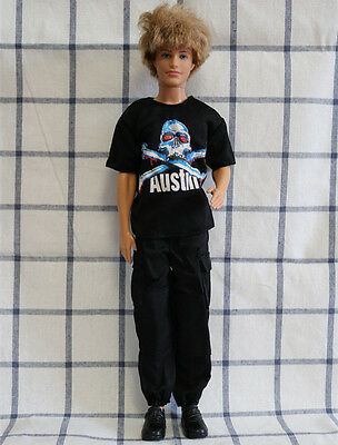 Fashion Summer Doll Clothes Doll Accessories Black set for Barbie Ken doll
