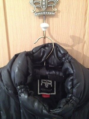 Girls River Island Black Padded Winter Coat Age 10