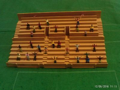 Subbuteo Accessories - Stadium Terrace (Tan) with Supporters and Stewards
