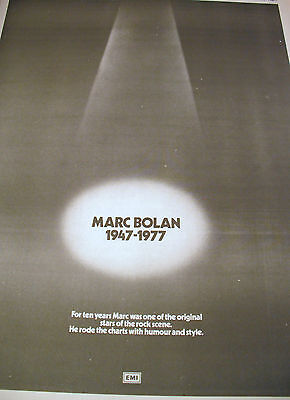 """T.rex """"goodbye Marc"""" Full Page Double Sided Epitaph For Marc Bolan  Sept. 1977"""
