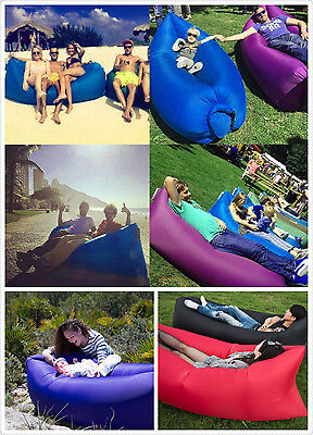 Gift xmas Inflatable Sofa Air Bed Lounger Chair Outdoor Sleeping Camping Bed