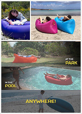 Gift Present Inflatable Sofa Air Bed Lounger Chair Outdoor Sleeping Camping xmas