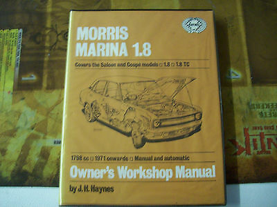 Haynes Owner's Workshop Manual Morris Marina 1.8, Covers the Saloon and Coupe