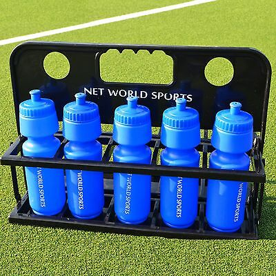 10 Sports Drinks Bottles & Foldable Bottle Carrier [Net World Sports]