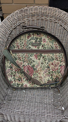 Tapestry Half Moon Suitcase- pretty rose pattern
