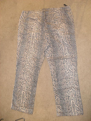 Amazing 90's style clubwear Snakeskin trousers in Size 20 (Free P&P!)
