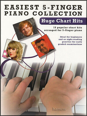 Easiest 5-Finger Piano Collection Huge Chart Hits Very Easy Sheet Music Book