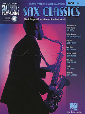 Sax Classics Saxophone Play-Along Vol 4 Music Book & Backing Tracks Audio