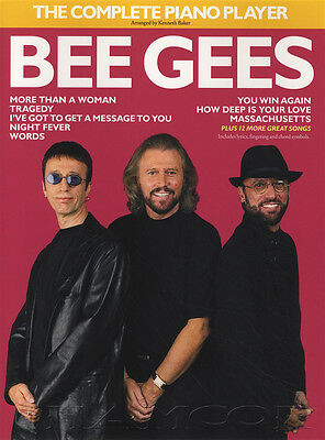 The Complete Piano Player Bee Gees Sheet Music Book 20 Songs Chords & Lyrics