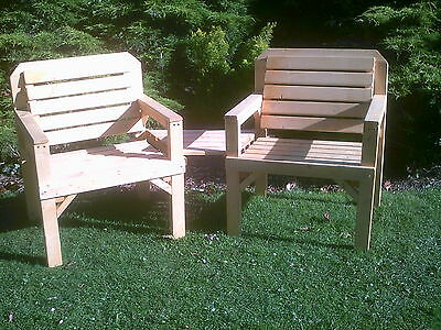 solid wooden  love seat /jack and jill  set garden furniture