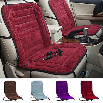 12V Car Interior Winter Electric Heated Seat Cover Pad Thermal Cushion Pillow
