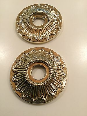 Gold Door Rosettes Pair