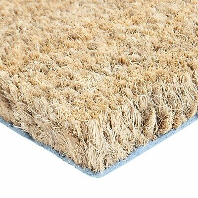 17mm COCONUT FIBRE DOORMAT 60x40 80x50 100x60 entrance wipe coir absorbs draught