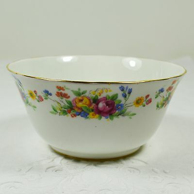 Vintage Tuscan Sugar Bowl with yellow, pink and blue flowers
