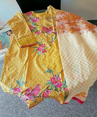 Khaadi original 3pc embroidered stitched suit.BNWT. gul ahmed elan
