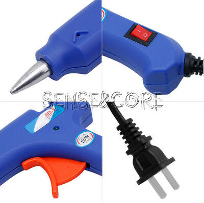 US Plug 20W 110-220V Professional Mini Electric Heating Hot Melt Glue Gun Blue
