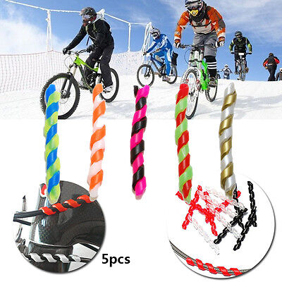 5pcs Cycling Spiral Silicone Bicycle Brake Cable Bike Frame Protector Guard