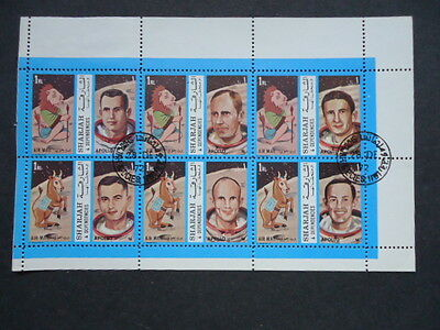 Sharjah 1972 Apollo 3 Sheets of 6 stamps franked