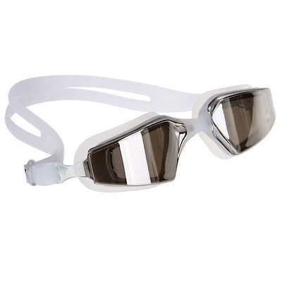 Swimming Goggle Glasses Silicone Polycarbonate Lens Anti-fog Coated Watertight