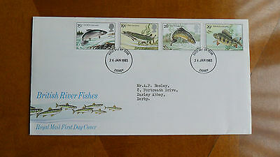 royal mail first day covers Stamps British River Fish