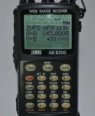 AOR 8200 MkII Handheld Communications Receiver 530kHz to 2400MHz