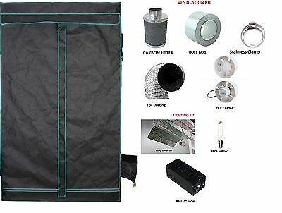 Superb Quality Hydroponic Greenhouse Grow Tent 600D Mylar Ventilation Light Kit