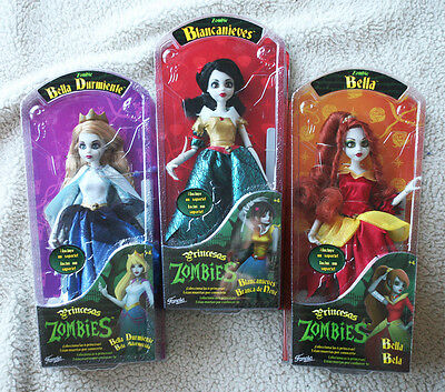 3 Zombie Princess (Once Upon a): SLEEPING BEAUTY, SNOW WHITE, BELLE. BRAND NEW!