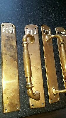 solid brass door pull handles and push plates