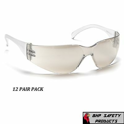 Pyramex Intruder Safety Glasses I/o Mirror Lens Indoor/outdoor S4180S (12 Pair)