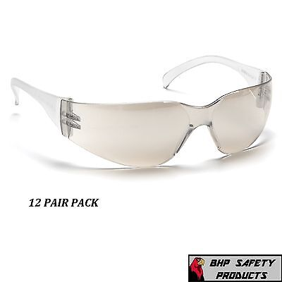 Safety Glasses I/o Mirror Lens Indoor/outdoor Pyramex Intruder S4180S (12 Pair)