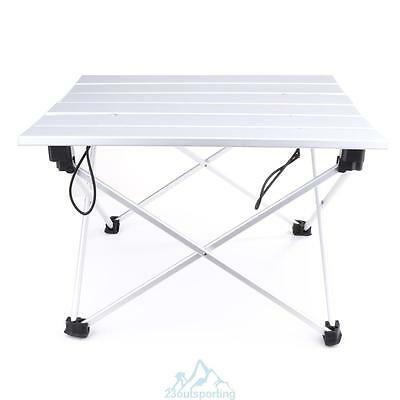 Portable Aluminum Rolling Table Folding Outdoor Camping Hiking with Bag