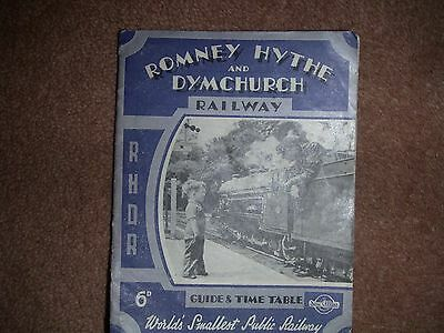 vintage ROMNEY HYTHE & DYMCHURCH 1946 GUIDE & TIMETABLE BOOK WITH 1947 TIMETABLE