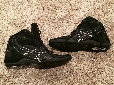 Asics Wrestling Shoes Black Upper Leather JL001 Split Sole Men's Size 11.5