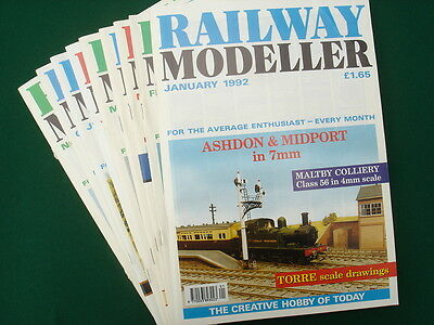 Railway Modeller magazines from 1992 pack of 9 issues